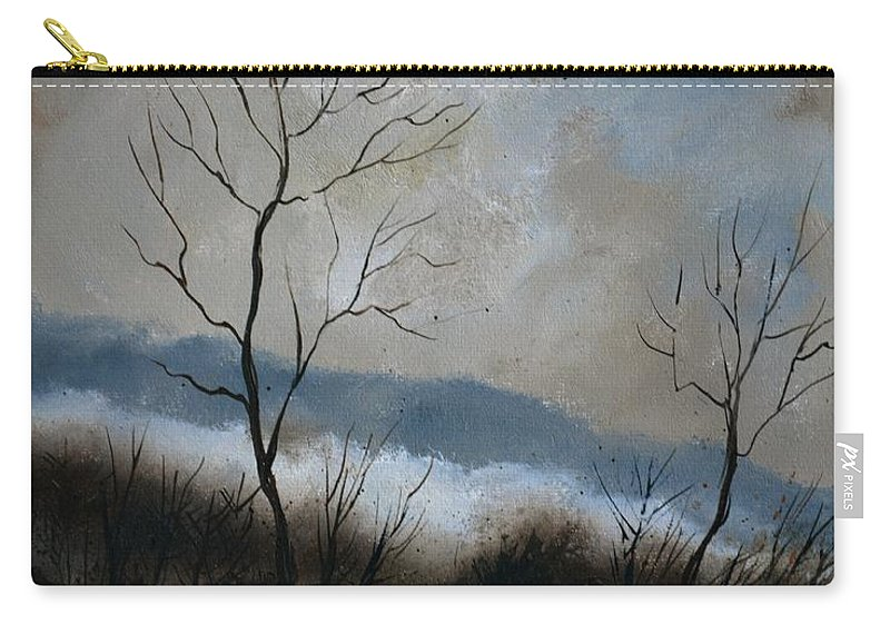 Winter Carry-all Pouch featuring the painting Winter 4571 by Pol Ledent