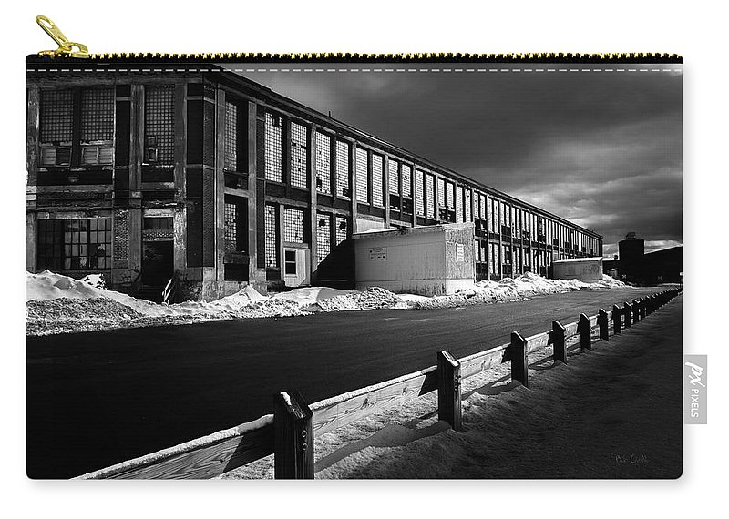 Bates Mill Carry-all Pouch featuring the photograph Winter Bates Mill by Bob Orsillo