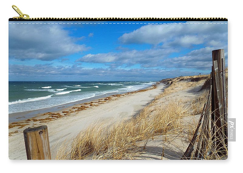 Cape Cod Carry-all Pouch featuring the photograph Winter Beach View by Dianne Cowen