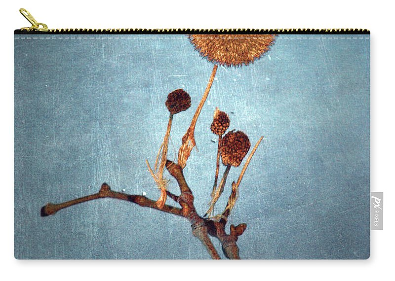 Blue Carry-all Pouch featuring the photograph Winter Branch by Tara Turner