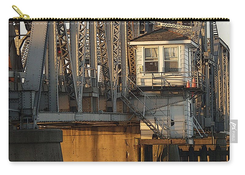 Bridge Carry-all Pouch featuring the photograph Winter Bridgehouse by Tim Nyberg