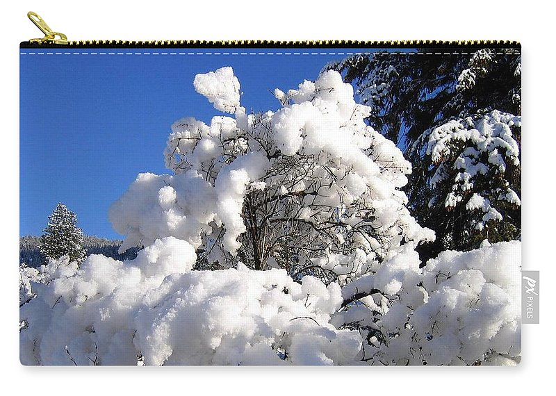 Winter Carry-all Pouch featuring the photograph Winter Cotton by Will Borden