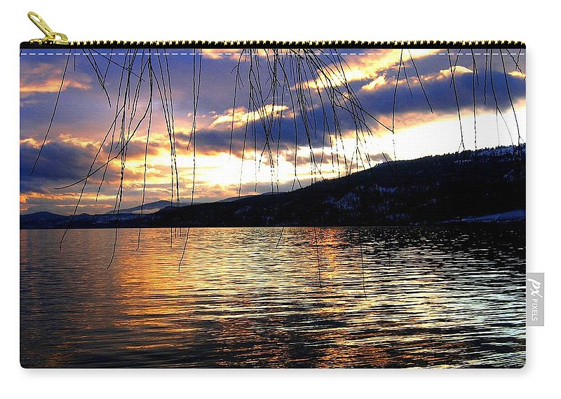 Sunset Carry-all Pouch featuring the photograph Winter Drama by Will Borden