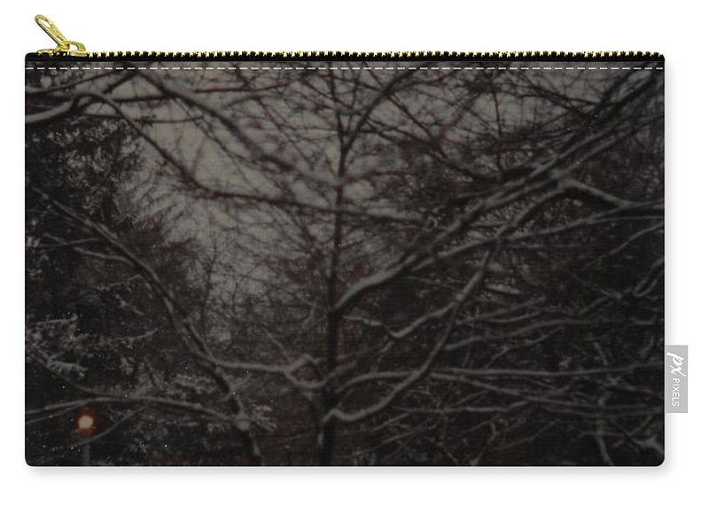 Lights Carry-all Pouch featuring the photograph Winter Dusk by Rob Hans
