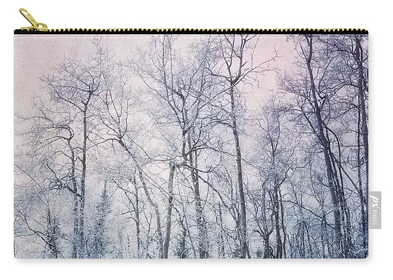 Forest Carry-all Pouch featuring the photograph Winter Forest by Priska Wettstein