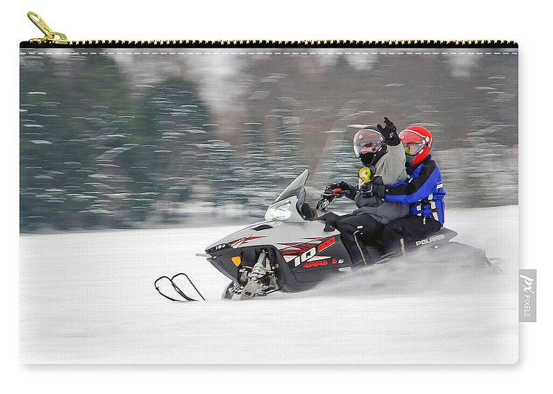 Snowmobile Carry-all Pouch featuring the photograph Winter Fun by Keith Armstrong