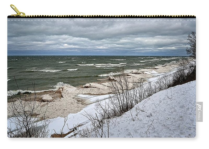 Iceberg Carry-all Pouch featuring the photograph Winter Ice On Lake Michigan Ll by Michelle Calkins