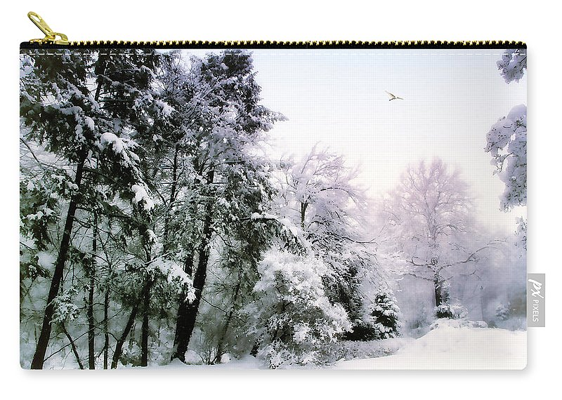 Winter Carry-all Pouch featuring the photograph Winter Impressions by Jessica Jenney