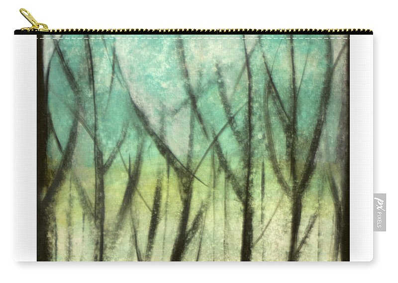Trees Carry-all Pouch featuring the painting Winter Into Spring by Tim Nyberg