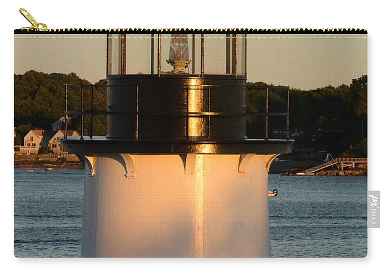 Salem Carry-all Pouch featuring the photograph Winter Island Lighthouse At Sunset, Salem, Massachusetts by Nicole Freedman