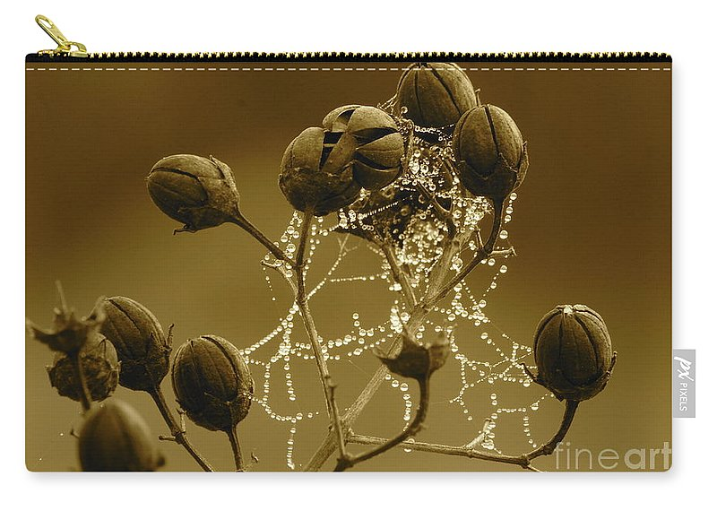 Droplets Carry-all Pouch featuring the photograph Winter Jewels by Carol Groenen