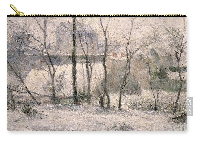 Trees Carry-all Pouch featuring the painting Winter Landscape by Paul Gauguin