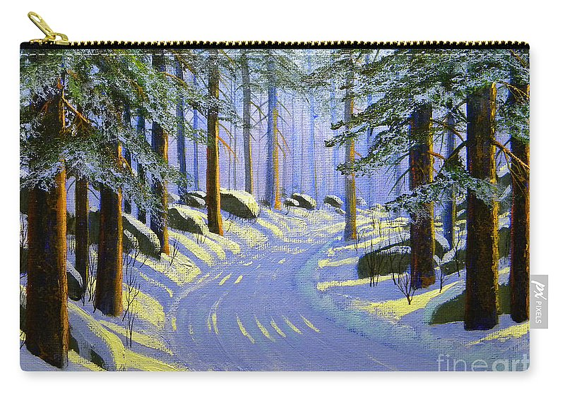 Tree Carry-all Pouch featuring the painting Winter Landscape Study 1 by Frank Wilson