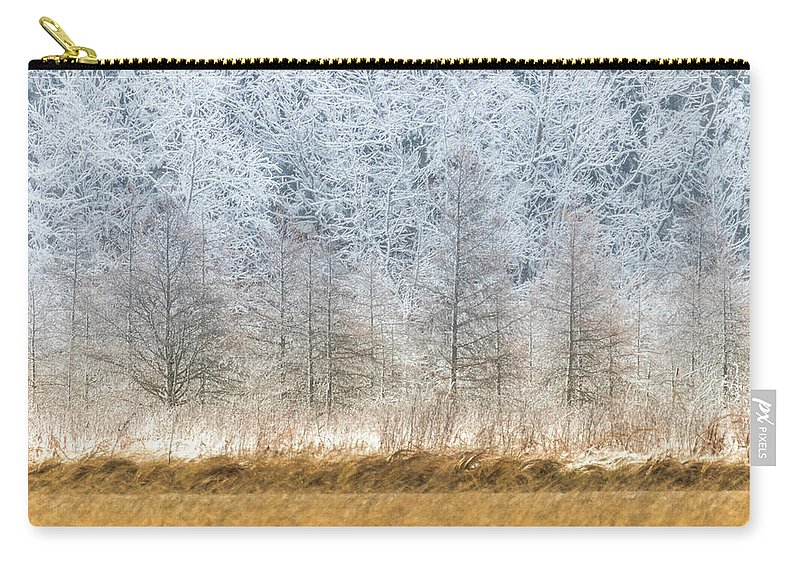 Winter Carry-all Pouch featuring the photograph Winter Layers by Patti Deters