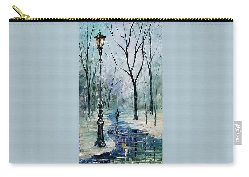 Afremov Carry-all Pouch featuring the painting Winter Light by Leonid Afremov