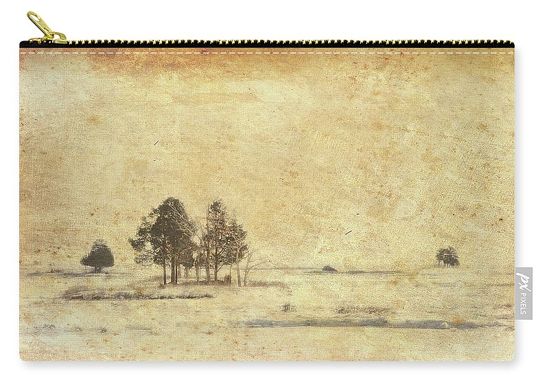 Cape Cod Carry-all Pouch featuring the photograph Winter Marsh by Douglas W Bradshaw