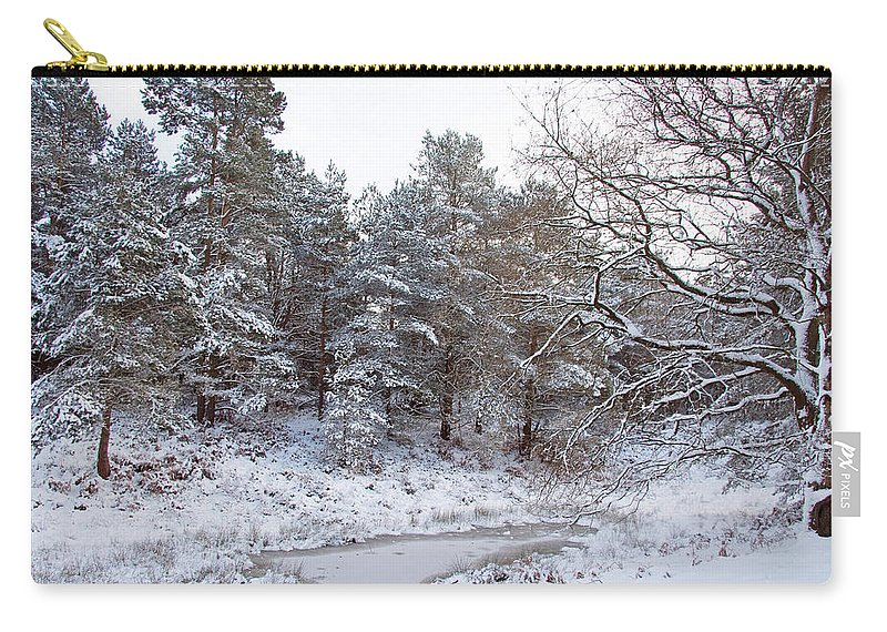 Snow Carry-all Pouch featuring the photograph Winter On The Chase by Bob Kemp