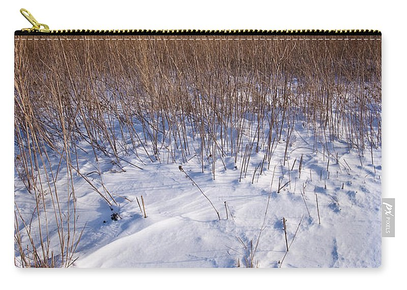 Goose Carry-all Pouch featuring the photograph Winter On The Prairie by Steve Gadomski