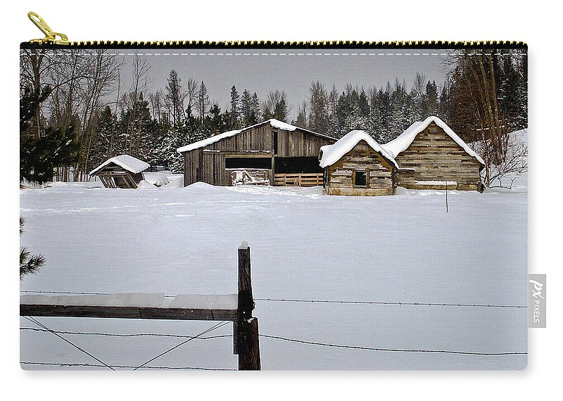 North Idaho Carry-all Pouch featuring the photograph Winter On The Ranch by Albert Seger
