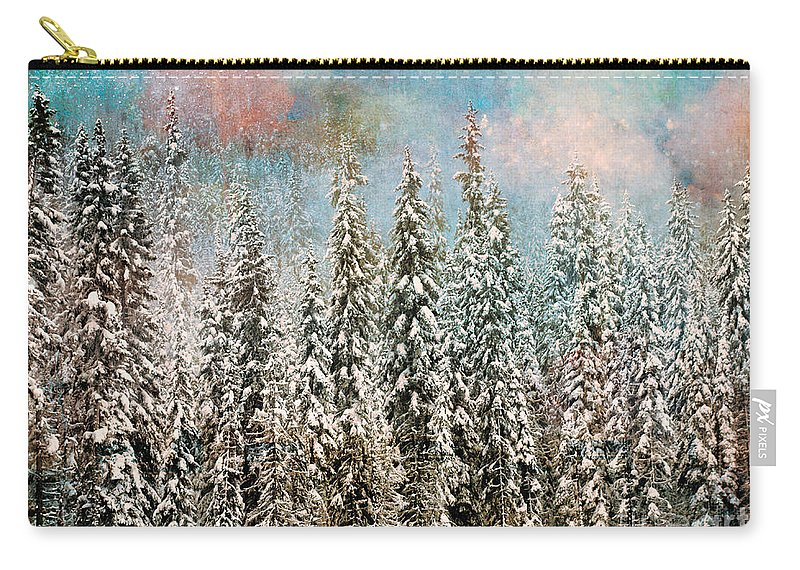 Trees Carry-all Pouch featuring the photograph Winter Pastels by Tara Turner