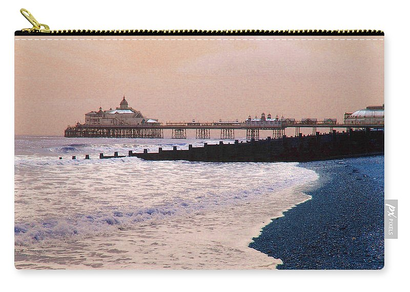 Winter Carry-all Pouch featuring the photograph Winter Pier by Heather Lennox