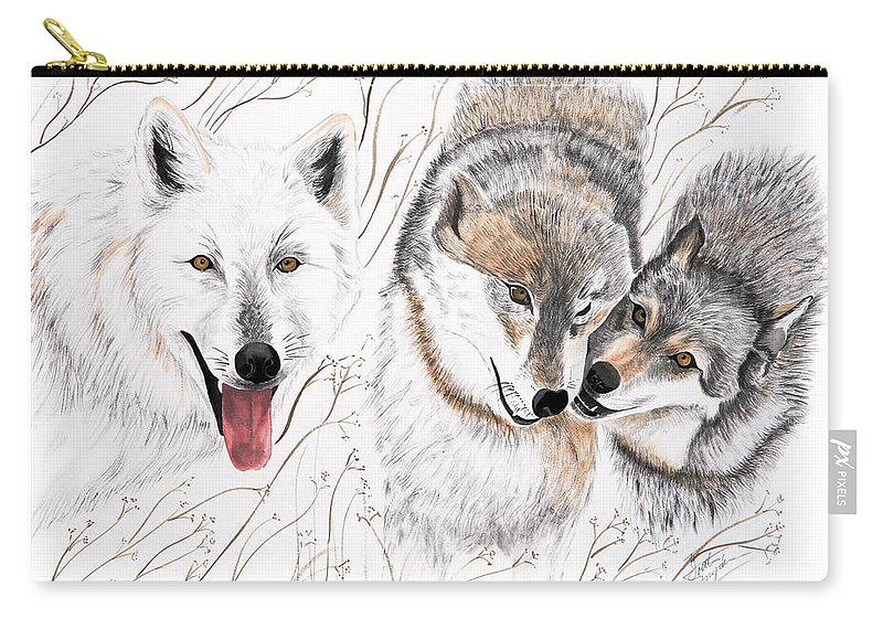 Joette Carry-all Pouch featuring the painting Winter Play by Joette Snyder