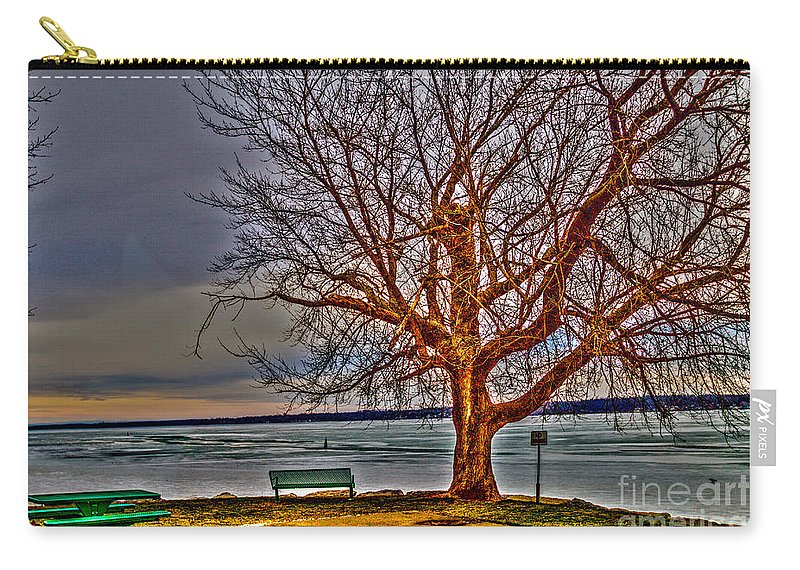 Tree Carry-all Pouch featuring the photograph Winter Retreat by William Norton