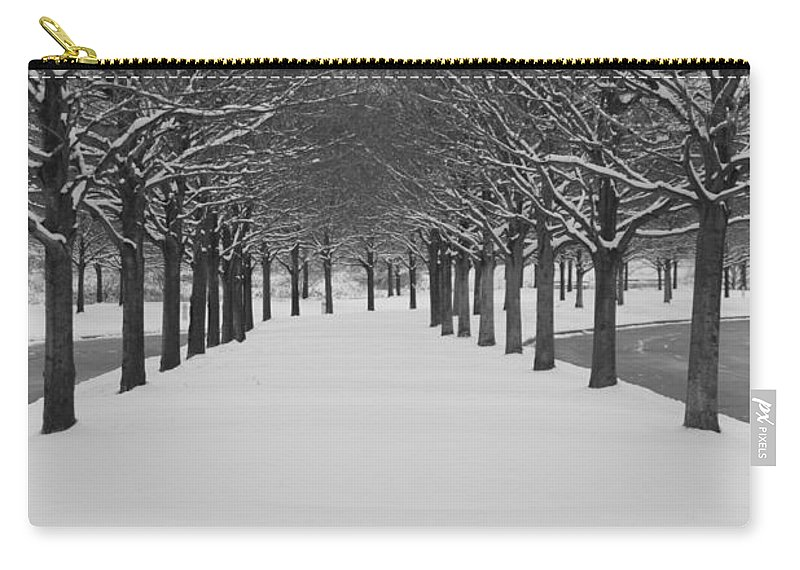 Trees Carry-all Pouch featuring the photograph Winter Rows by Lauri Novak