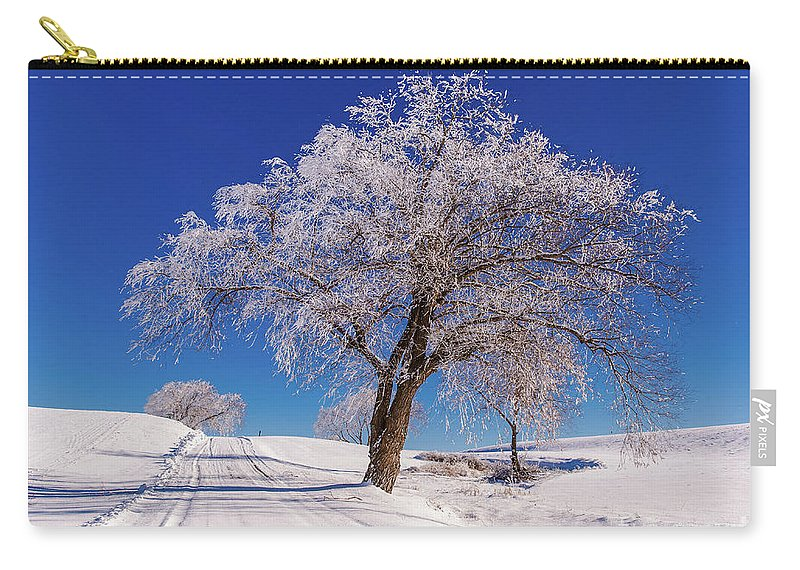 Carry-all Pouch featuring the photograph Winter Scene Genessee, Id by Marcia Darby