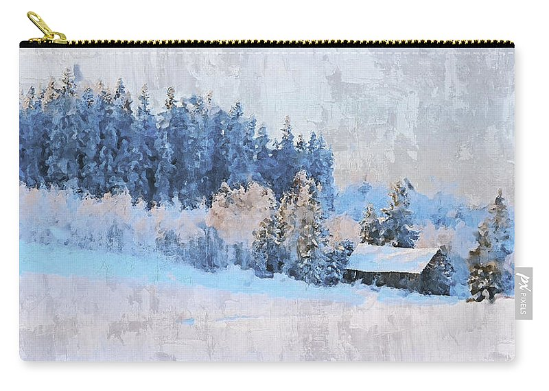 Winter Carry-all Pouch featuring the photograph Winter Scenery by Pekka Liukkonen