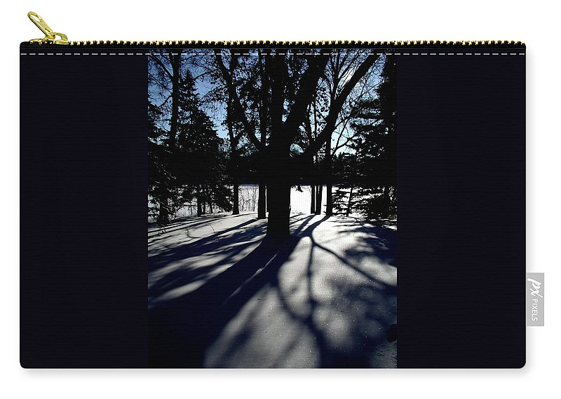 Landscape Carry-all Pouch featuring the photograph Winter Shadows 2 by Tom Reynen