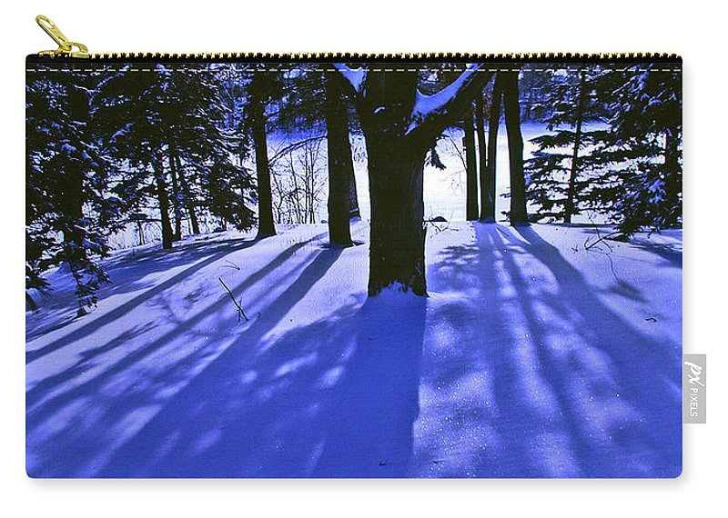 Landscape Carry-all Pouch featuring the photograph Winter Shadows by Tom Reynen
