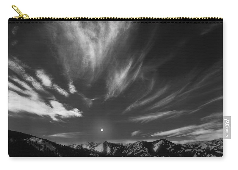Winter Carry-all Pouch featuring the photograph Winter Sky by Leland D Howard