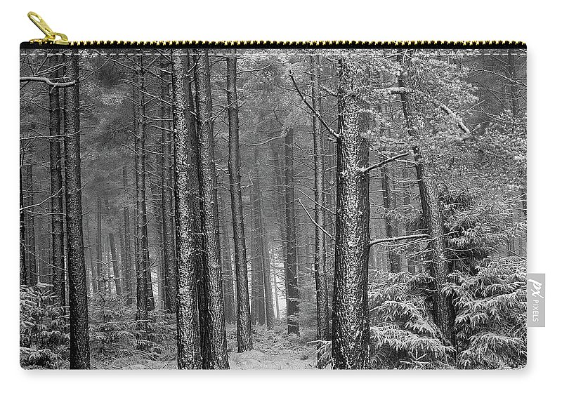 Carry-all Pouch featuring the photograph Winter, Slaley Woods by Iain Duncan