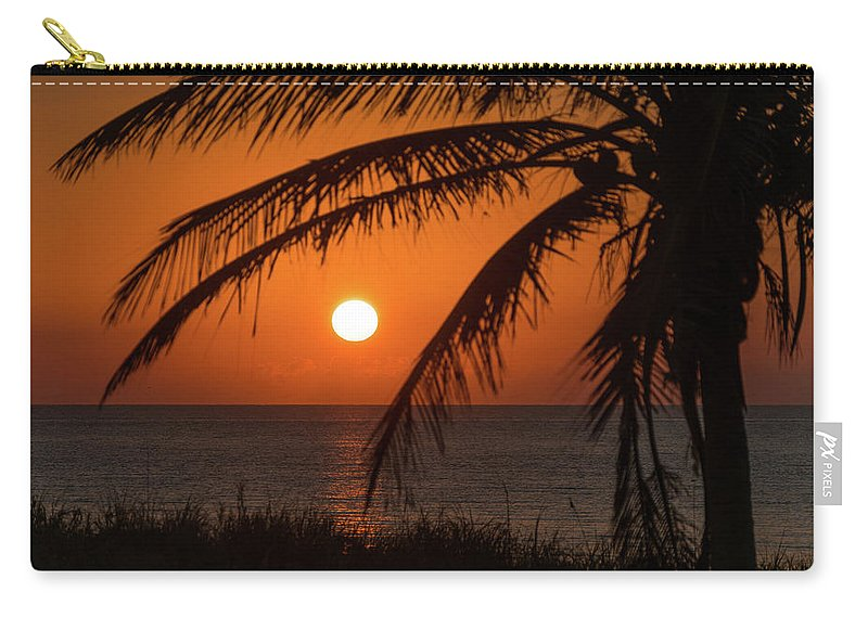 Florida Carry-all Pouch featuring the photograph Winter Solstice Sunrise 2 Delray Beach, Florida by Lawrence S Richardson Jr