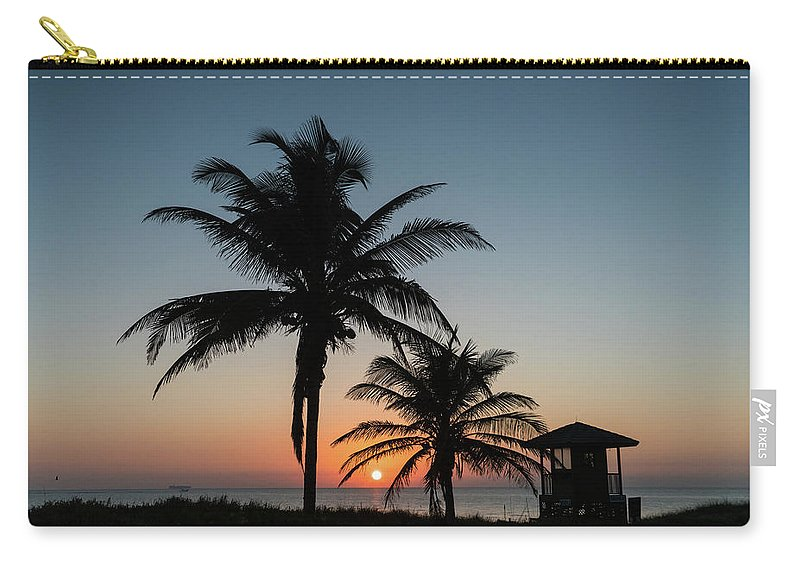 Florida Carry-all Pouch featuring the photograph Winter Solstice Sunrise Delray Beach Florida by Lawrence S Richardson Jr