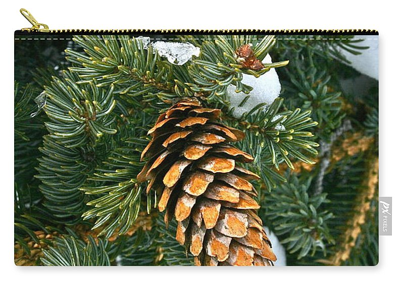 Tree Carry-all Pouch featuring the photograph Winter Spruce by Rick Monyahan
