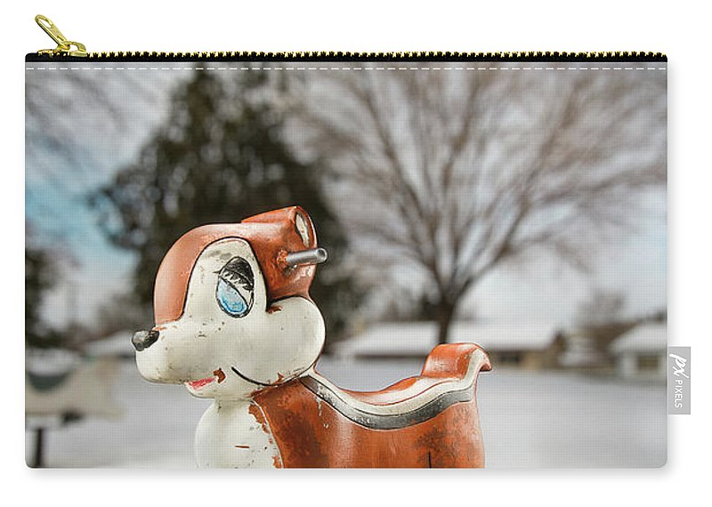 Blue Carry-all Pouch featuring the photograph Winter Squirel by Yo Pedro