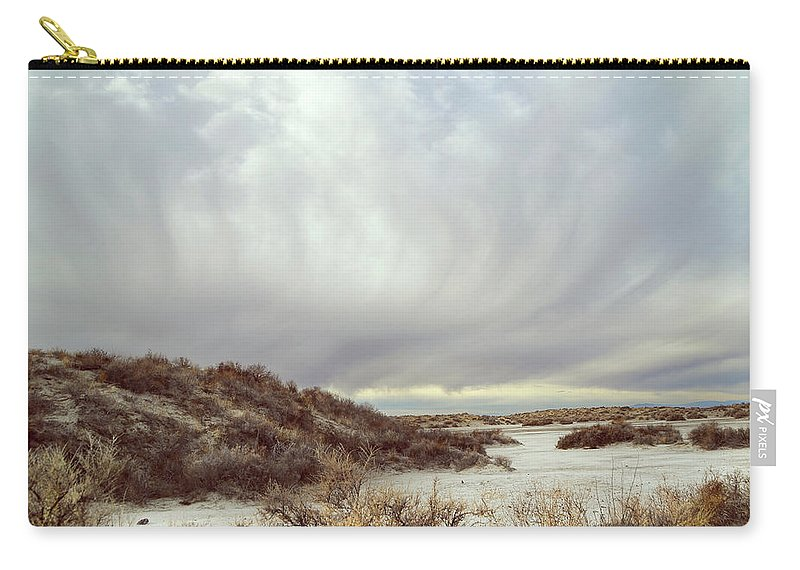 Landscapes Carry-all Pouch featuring the photograph Winter Storm Clouds 2018-2289 by Karen W Meyer