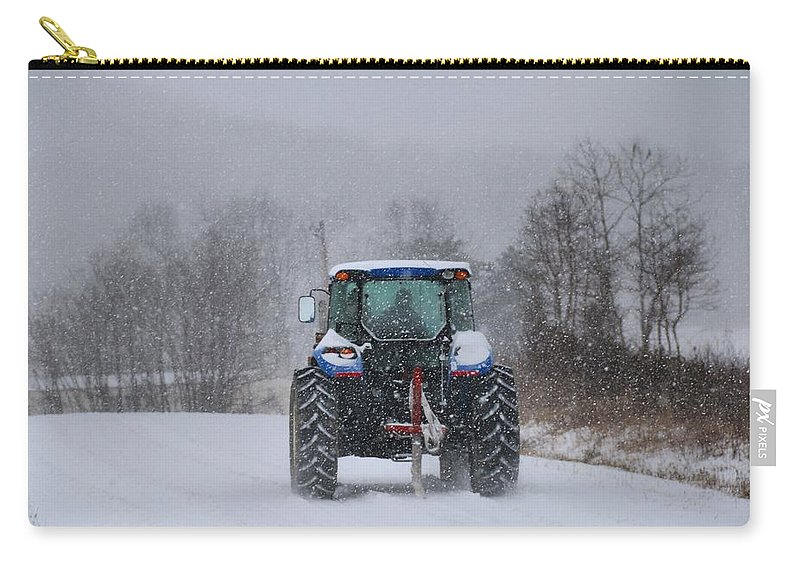 Snow Carry-all Pouch featuring the photograph Winter Storm Jonas by Kathryn Meyer