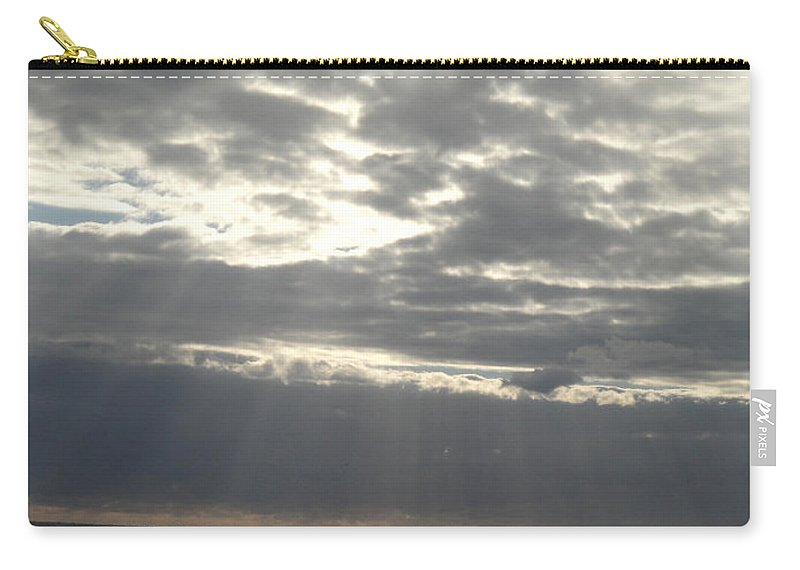 Sun Carry-all Pouch featuring the photograph Winter Sun At Sea by Susan Baker