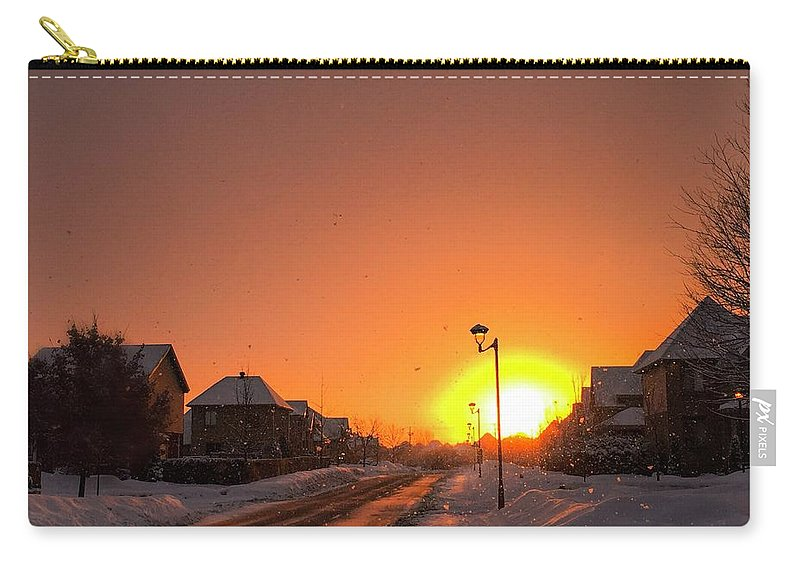 Sun Carry-all Pouch featuring the photograph Winter Sun Glow by Cristina Stefan