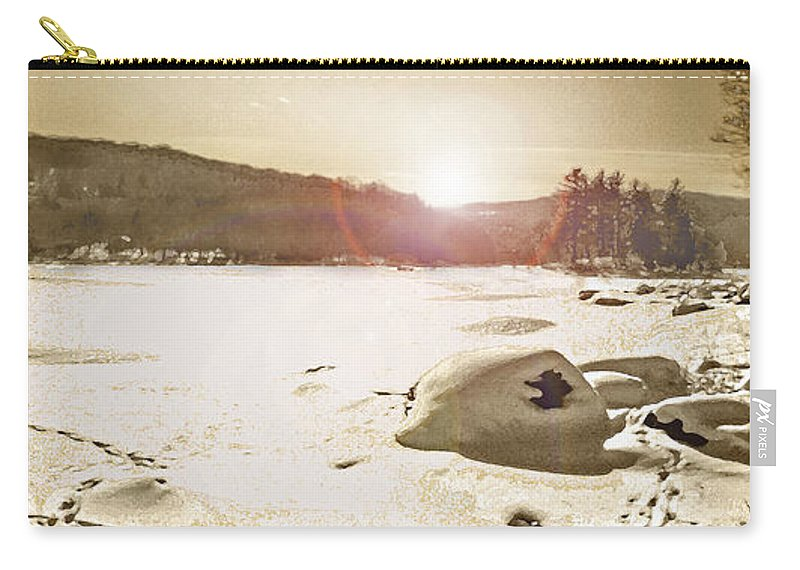 Landscape Carry-all Pouch featuring the photograph Winter Sun by Steve Karol