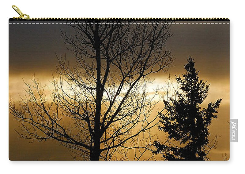 Nature Carry-all Pouch featuring the photograph Winter Sunrise 2 by Sebastian Musial