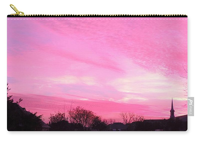 Sunrise Carry-all Pouch featuring the photograph Winter Sunrise by Sarah Avignone