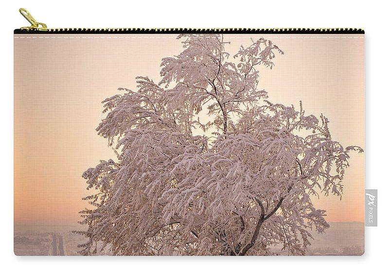Winter Carry-all Pouch featuring the photograph Winter Sunset by Marilyn Hunt