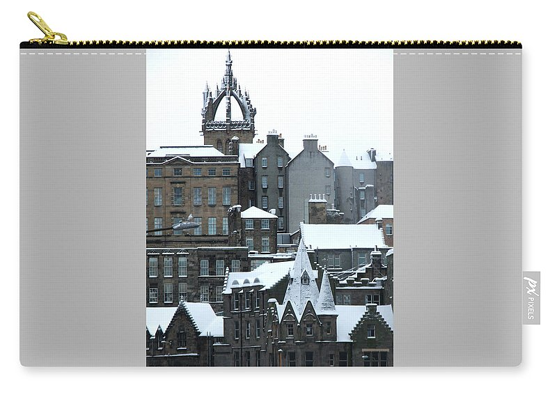 Scotland Carry-all Pouch featuring the photograph Winter Townscape Scotland by Heather Lennox