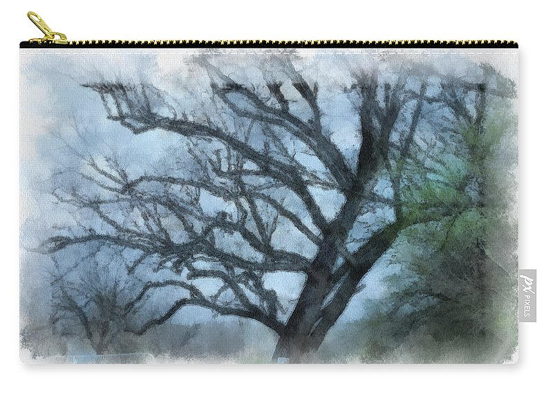Texas Carry-all Pouch featuring the photograph Winter Tree by Paulette B Wright