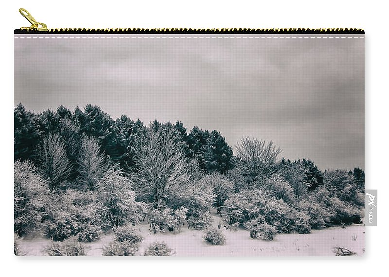 Carry-all Pouch featuring the photograph Winter Trees by Marvin Borst