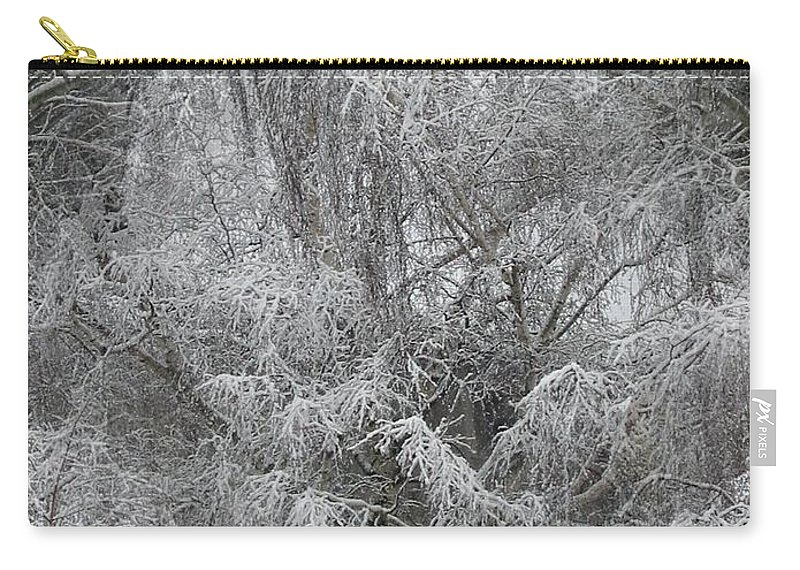 Winter Carry-all Pouch featuring the photograph Winter Trees by Tim Allen